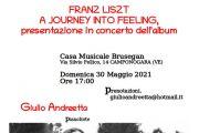 30 Maggio 2021 - Concerto Pianistico di Giulio Andreetta alla Casa Musicale Brusegan - Camponogara (VE)