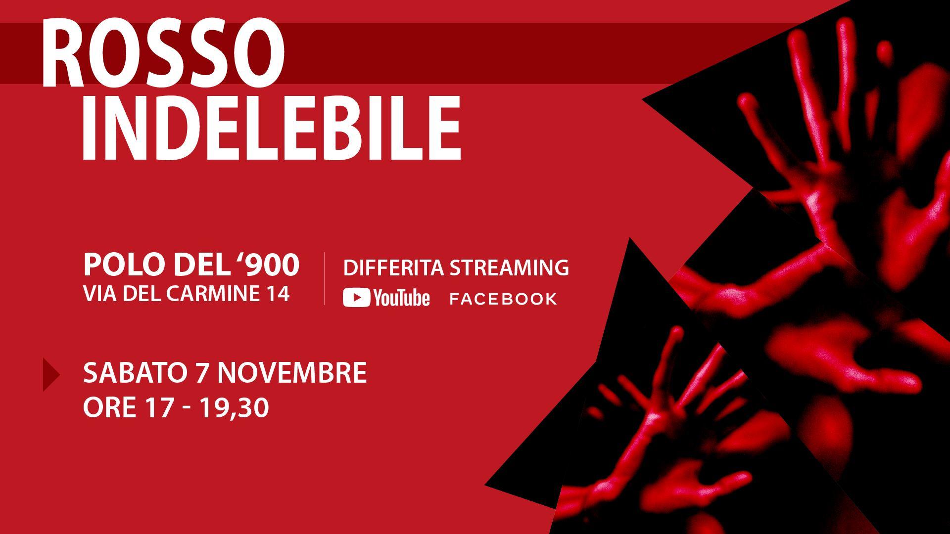 23-25 Novembre 2020 - Arte diffusa Rosso Indelebile contro la violenza di genere a Parco Commerciale Dora di Torino - Torino