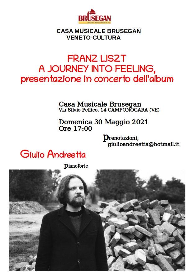 30 Maggio 2021 - Concerto Pianistico di Giulio Andreetta alla Casa Musicale Brusegan